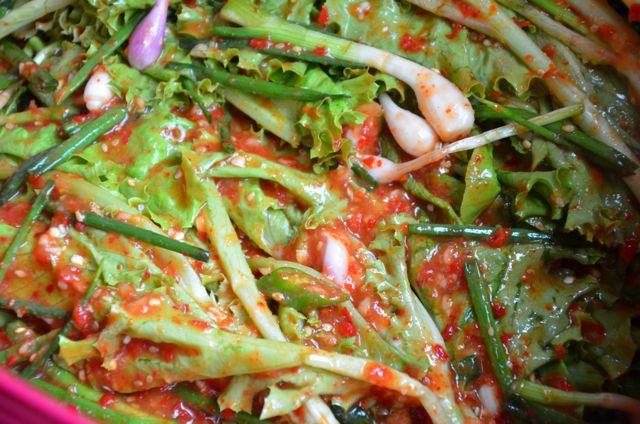 Finished lettuce Kimchi (Sangchoo Kimchi 상추김치)