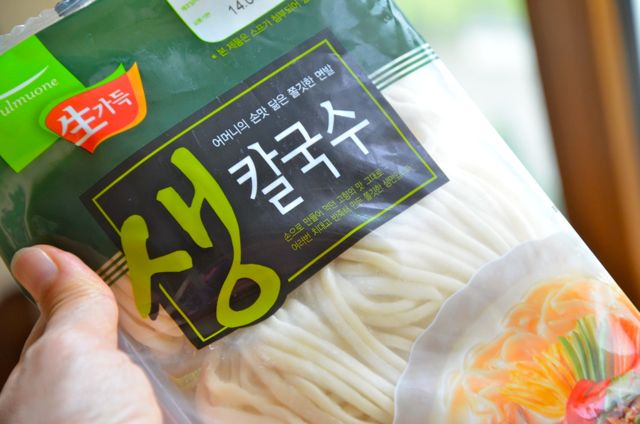 fresh Korean noodle package by pulmuone - kalguksu