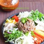 Makguksu(막국수) - Fresh Cold Buckwheat Noodle Salad for one