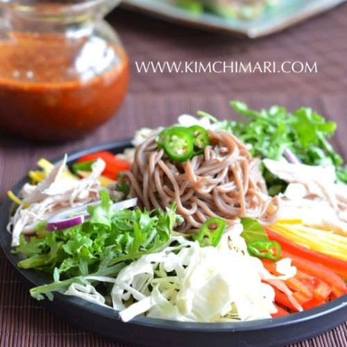 Cold Buckwheat Noodle Salad (막국수 Makguksu)