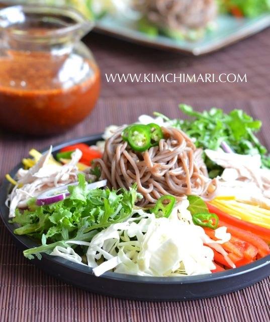 Cold Buckwheat Noodle Salad (막국수 Makguksu)