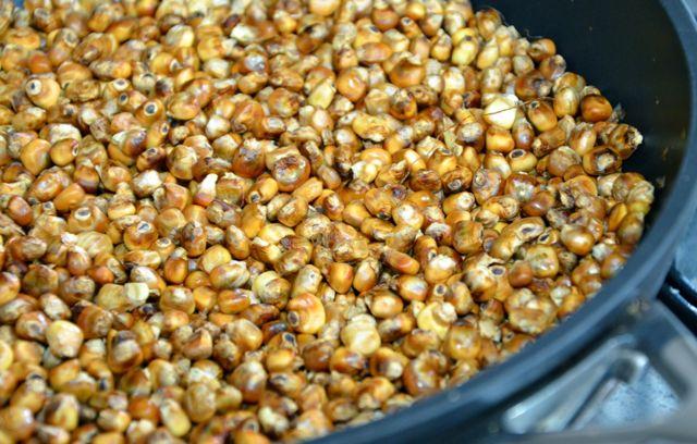 Roasting Corn for Oksusu Cha(옥수수차)