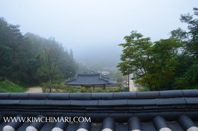 Morning view from Andong Gotaek(Korean Historical Home)