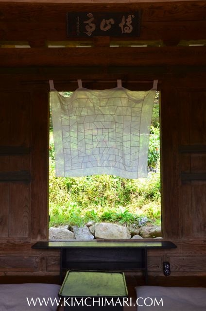 Open window of Historical Korean home