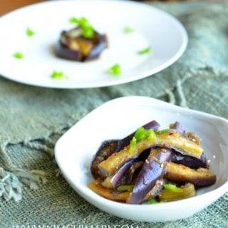 Eggplant Namul (가지나물 Gahji Namul)