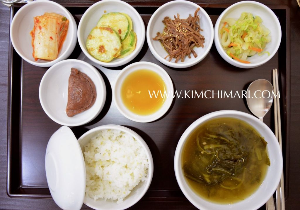 Traditional Korean Breakfast at Andong, Korea