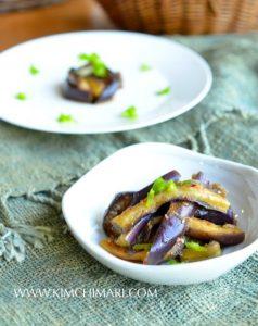 Steamed Eggplant Side Dish (Gaji Namul)
