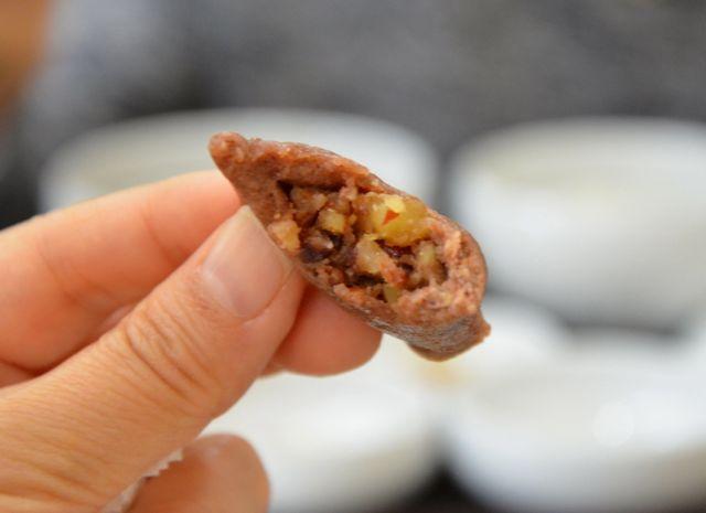 Korean Sorghum Rice Pancake (수수부꾸미 Susubukkumi)