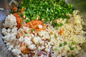 stuffing ingredients for Korean mandu