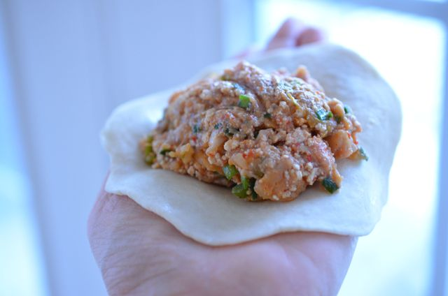 how much stuffing to put in your home style Korean mandu