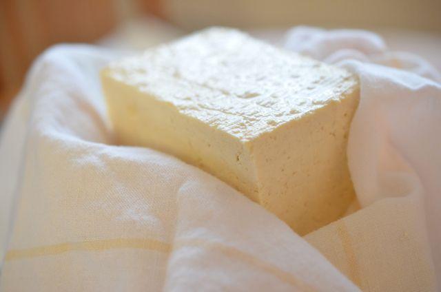 Tofu in cheese cloth
