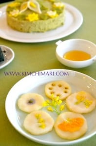 Korean Flower_rice_cake (화전 hwajeon)