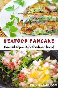 korean seafood pancake pin