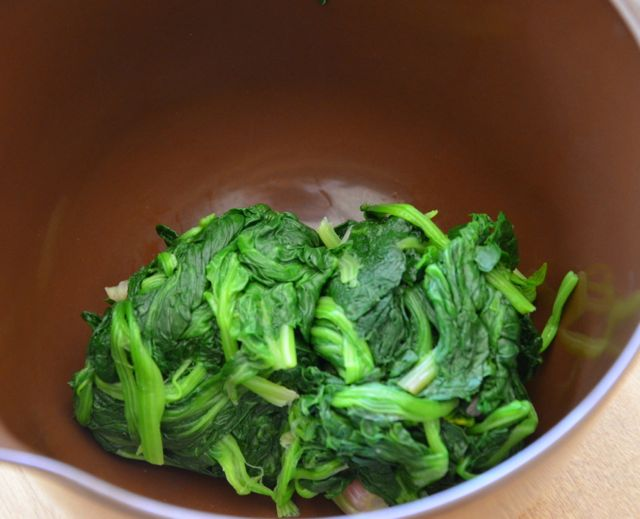 blanched spinach for kimbap