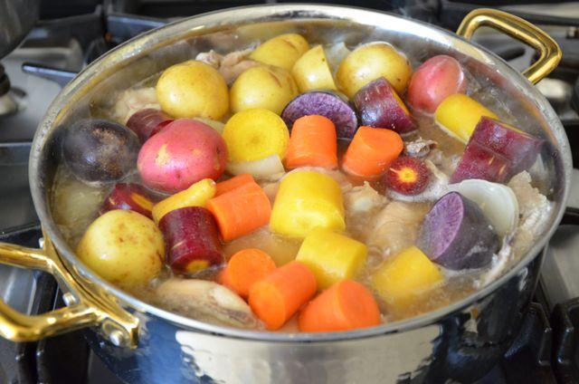 Chicken with vegetables for Dak doritang