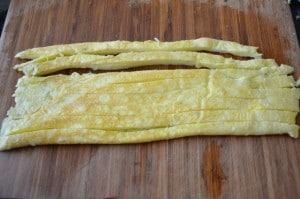 egg slices for gimbap