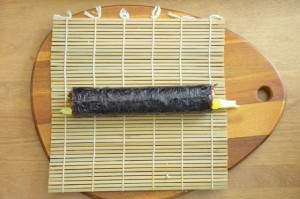 You just finished rolling your Kimbap!