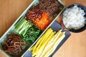 Ingredients for Korean Kimbap/Gimbap Roll (Rice rolled in dried seaweed)