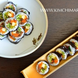 Kimbap/Gimbap - Korean dried seaweed rice rolls