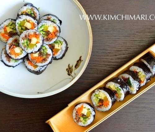 Kimbap/Gimbap - Korean dried seaweed rice rolls