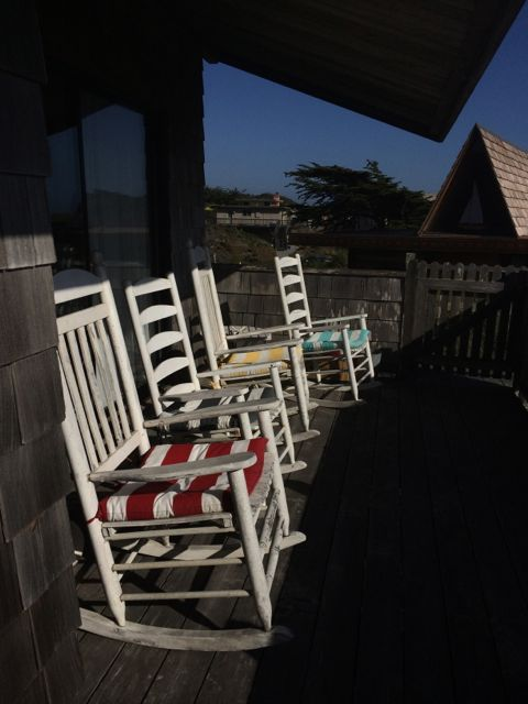 Chairs in the balcony of our Beach House in Pajaro Dunes, CA