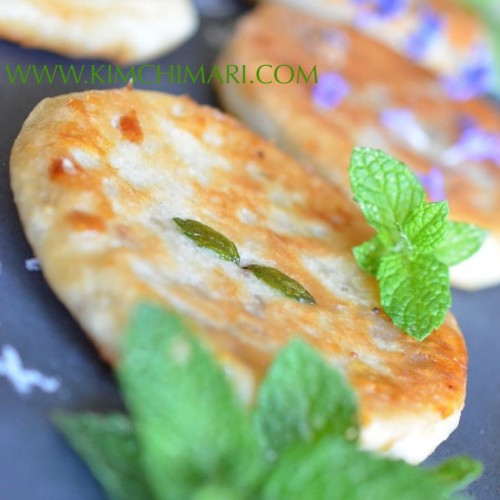 Mint Hotteok/Hodduck (Korean Sweet Pancake)