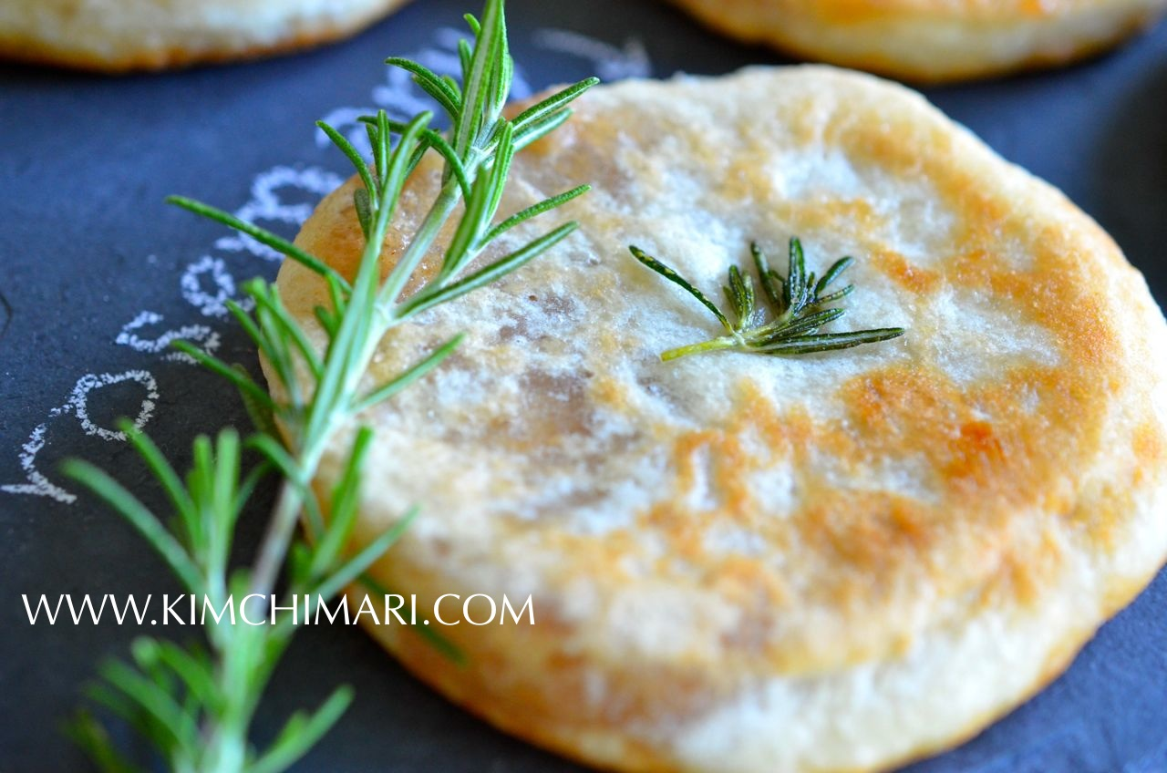 Rosemary Hotteok (Korean Sweet Pancake) www.kimchimari.com