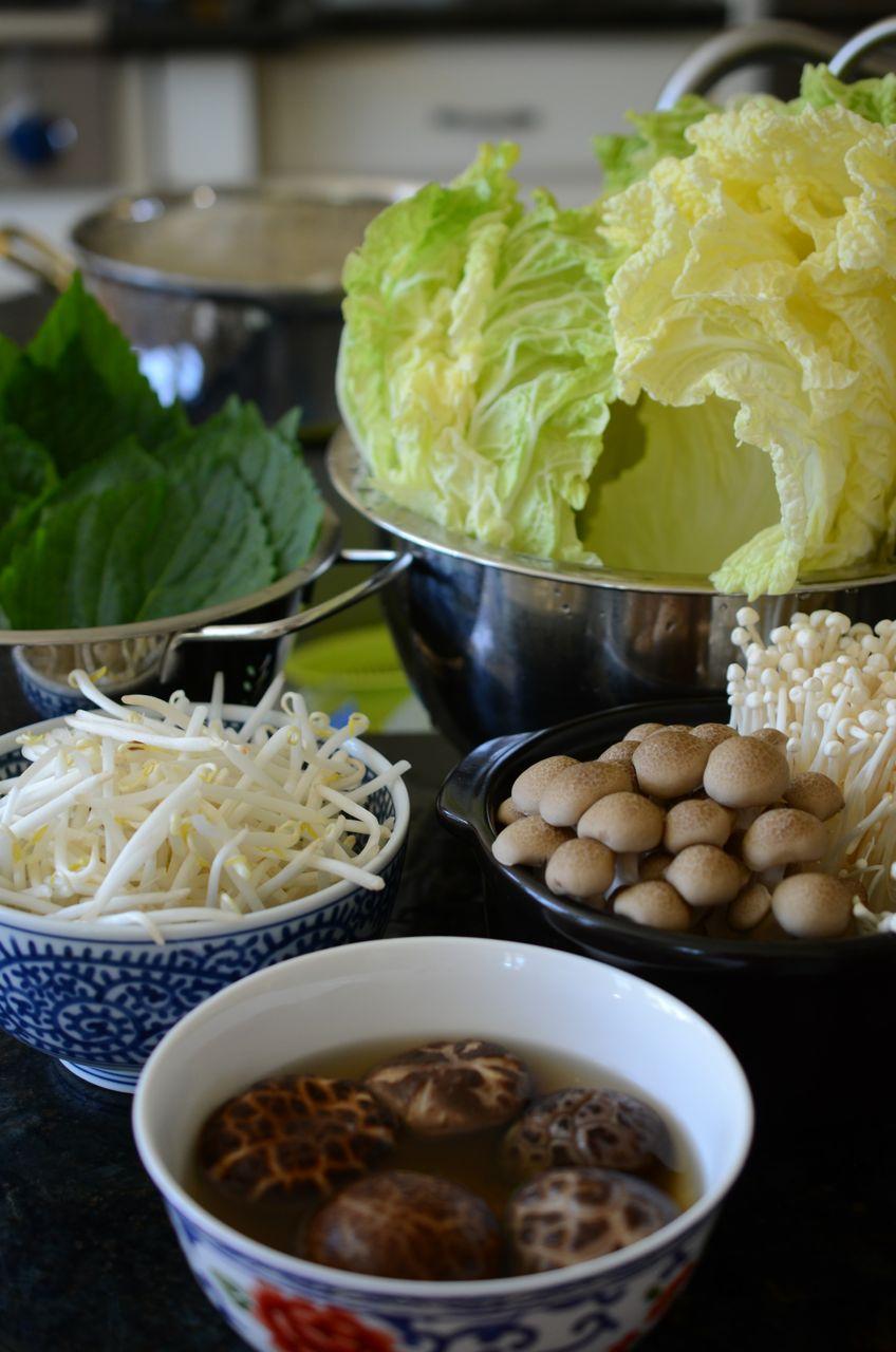 Ingredients for Shabu Shabu Mille Feuille (Shabu Shabu Nabe Style) www.kimchimari.com