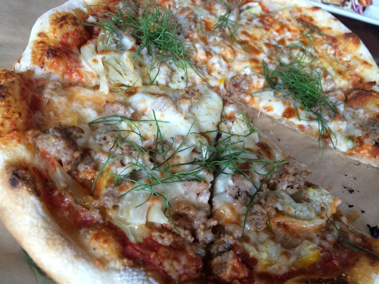 Fennel Sausage Pizza with Lemon