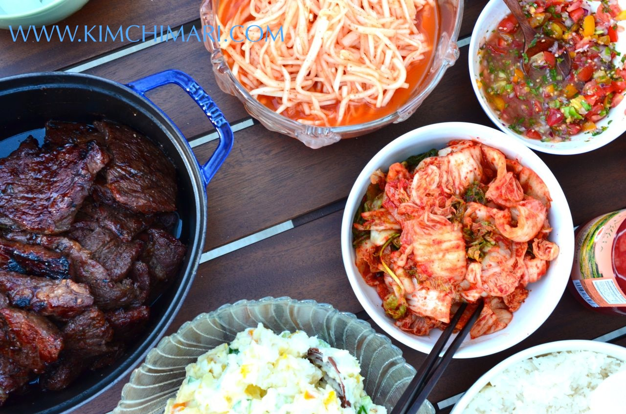 Image gallery kimchi and kalbi - How to build a korean bbq table ...