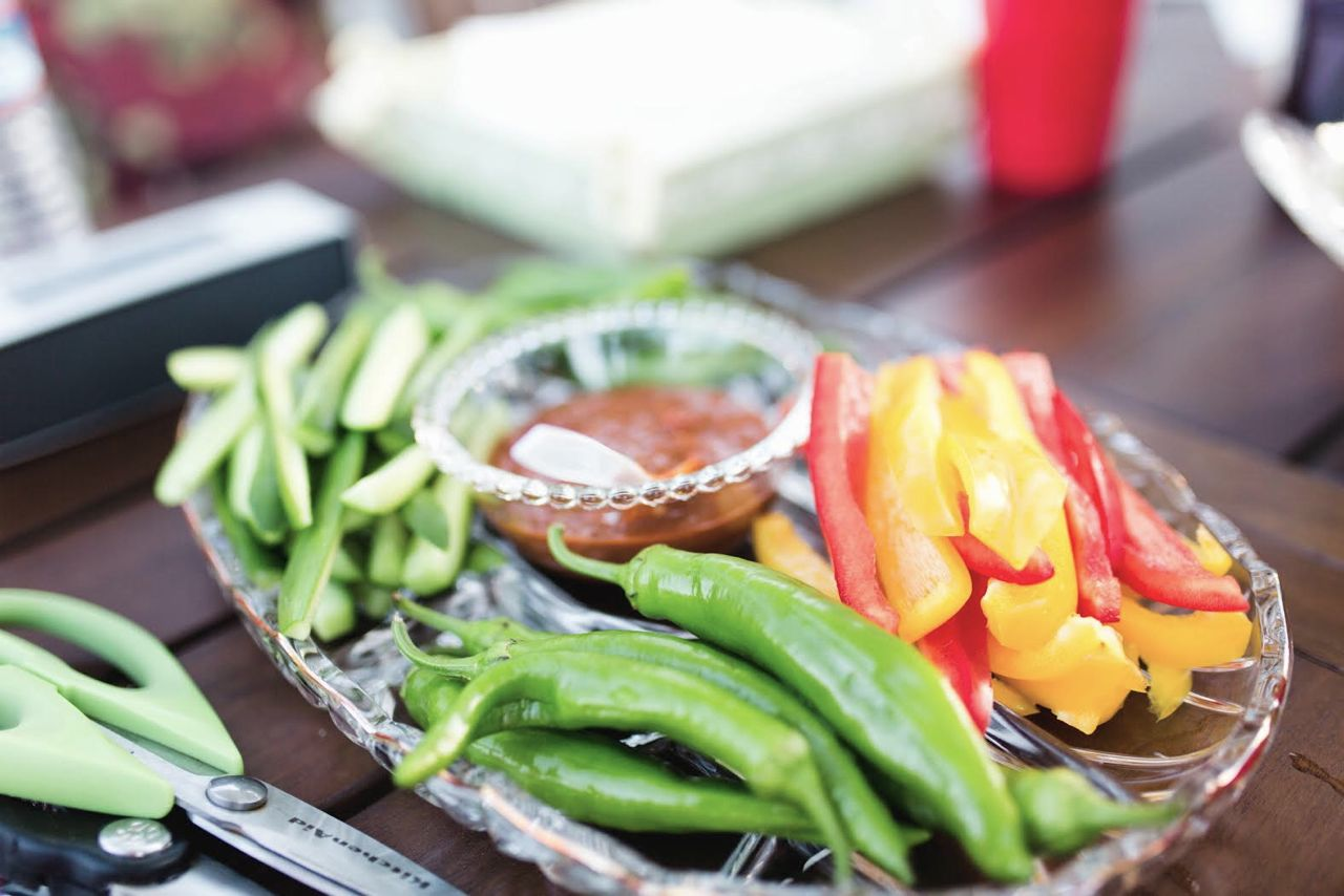 Korean Vegetable Platter with Ssam Jang