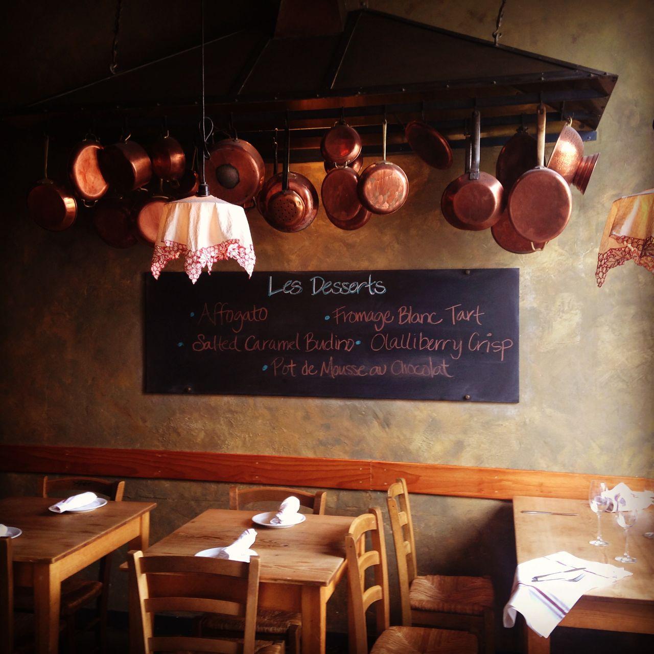 Inside of La Bicyclette restaurant