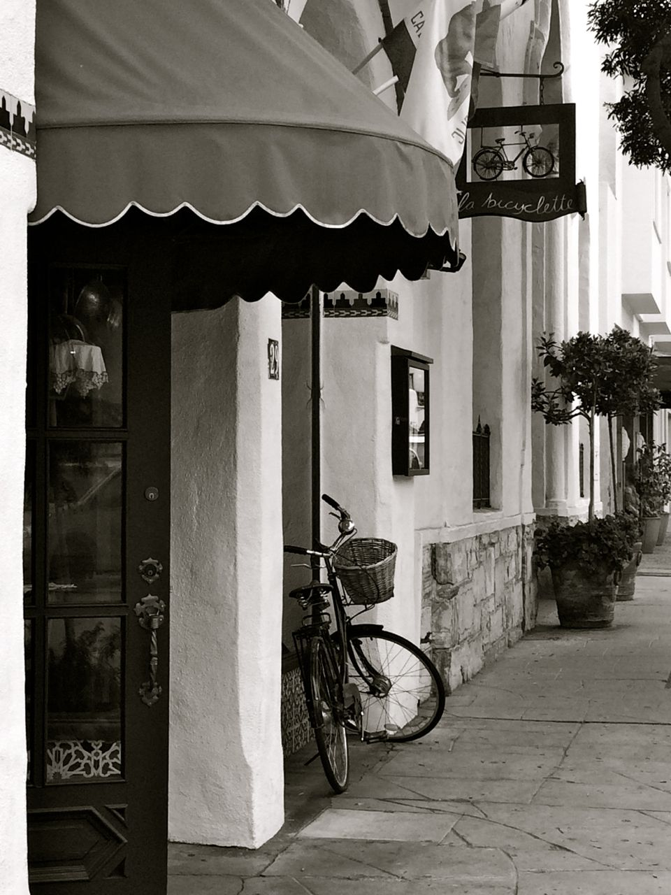 Entry Way of La Bicyclette (french cafe) in Carmel, California