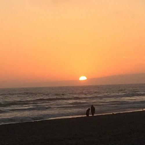Perfect Sunset in Pajaro Beach, California