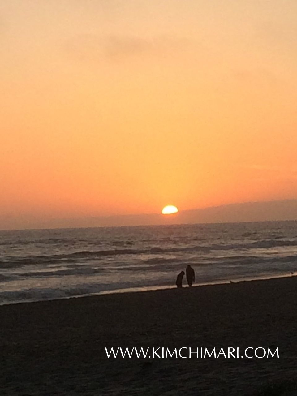 Perfect Sunset in Pajaro Beach, California