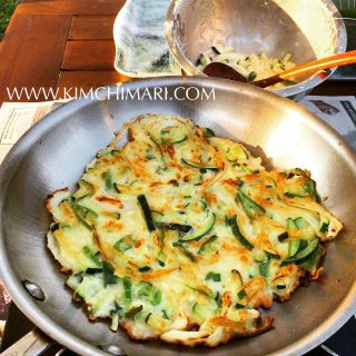 Gluten free Hobak Buchimgae (Korean Zucchini Fritters)