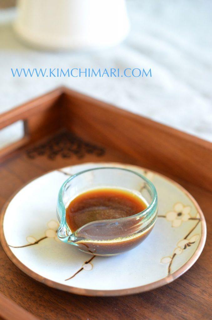 Korean soy mustard sauce (겨자간장 Gyeoja Kanjang) for Mayak Kimbap