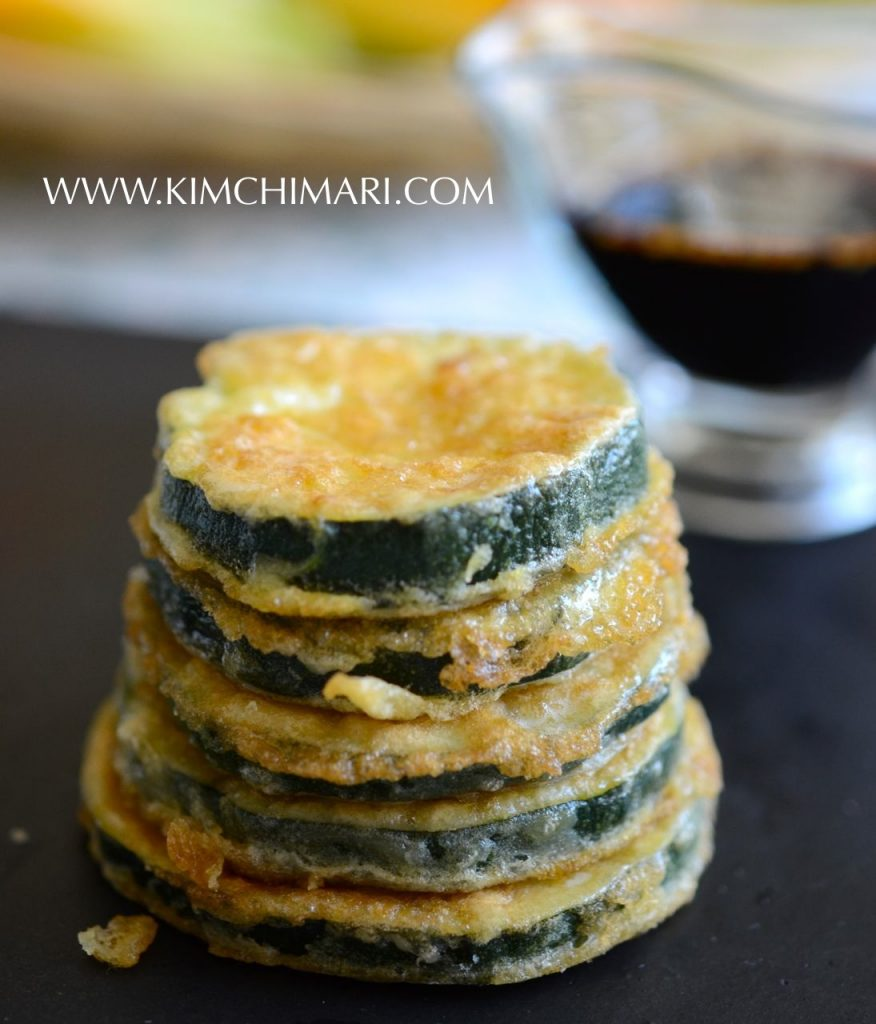 Hobak Jeon (Pan-fried Zucchini) all stacked up!