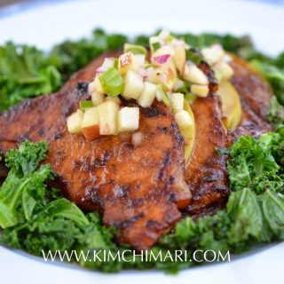 Apple Pork Bulgogi with Kale and Apple Salsa