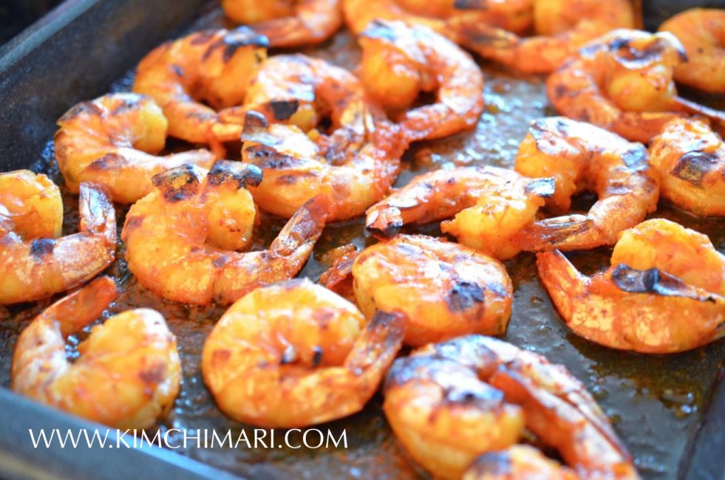 Grilled Gochujang Shrimp - Grilled Shrimp with Korean flavors