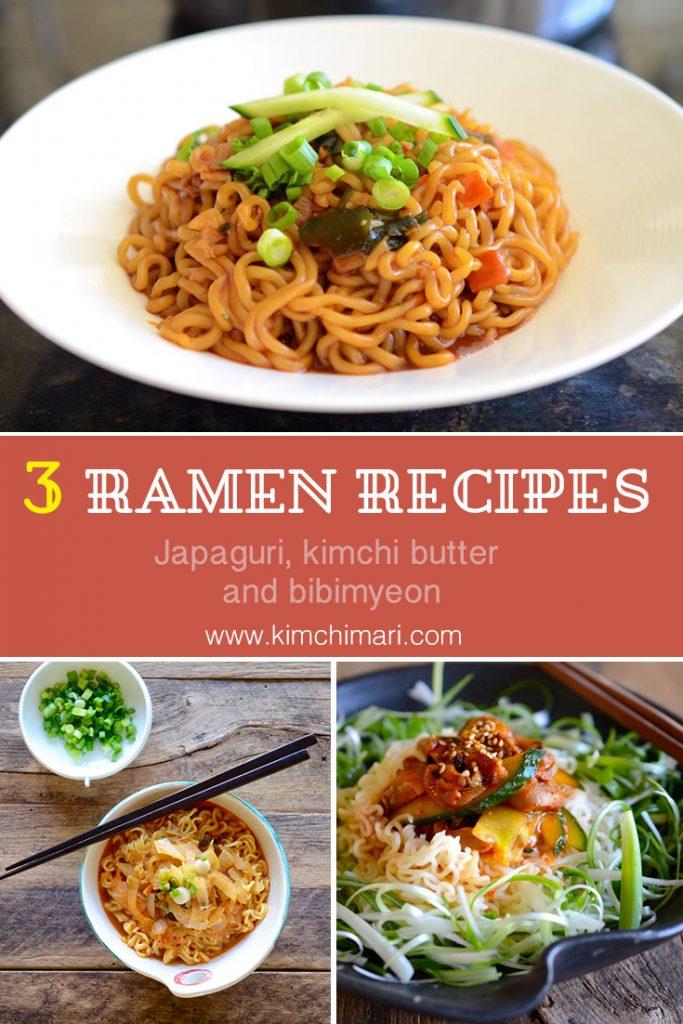 Pics of 3 diff. easy ramen recipes