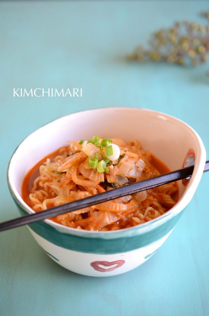 Kimchi Butter Ramen in a bowl