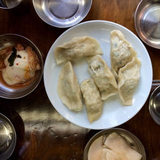 Korean Northern Style Steamed Dumplings at Pildong Myeonok restaurant