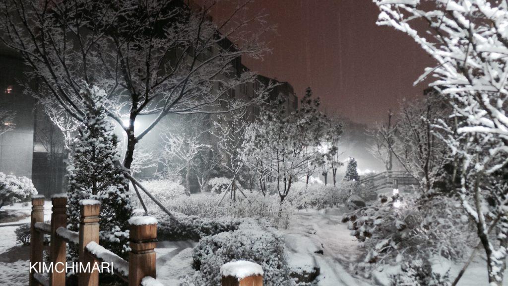 Snow or snowing in Korea