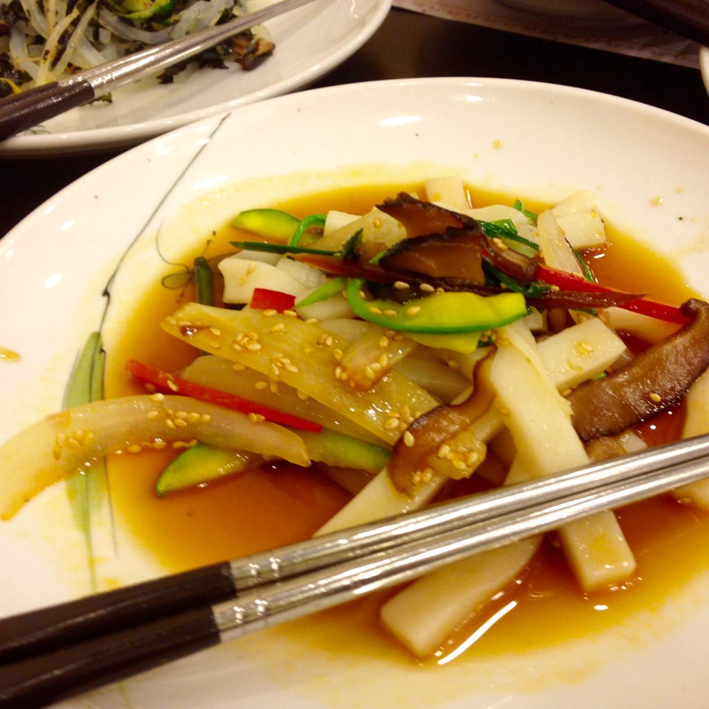 Tteok Japchae at Dweeungbak Sejong City