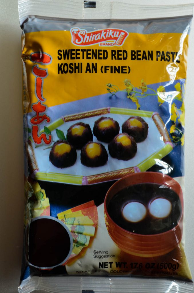 Sweetened Red Bean Paste in package