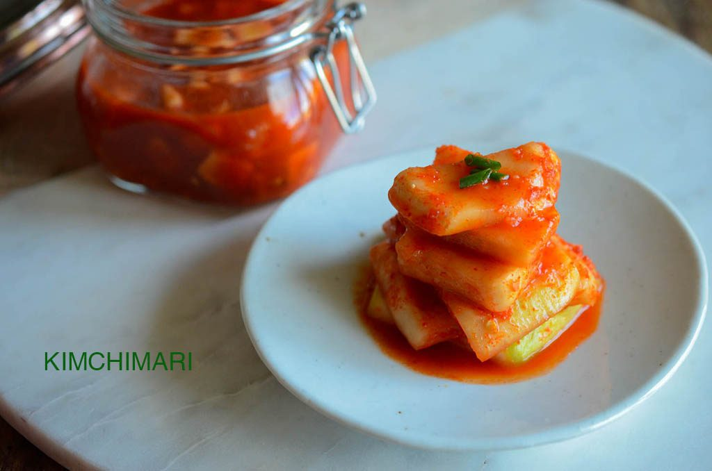 Easy 6 ingredient Radish Kimchi - traditional recipe