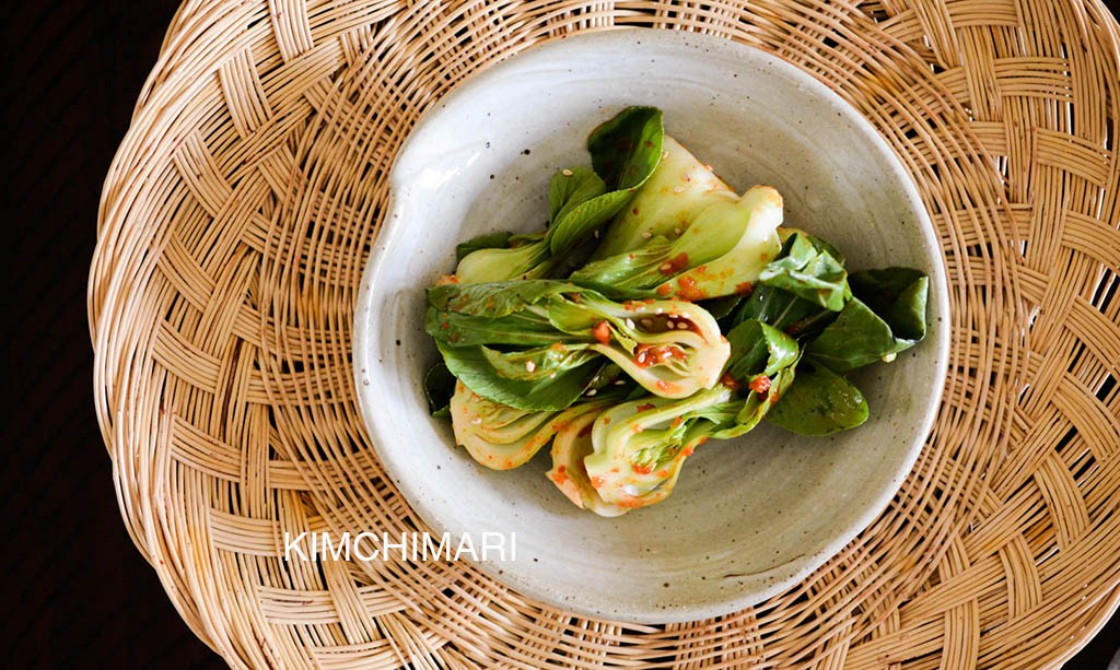 Spicy Bok Choy Salad with spicy onion dressing