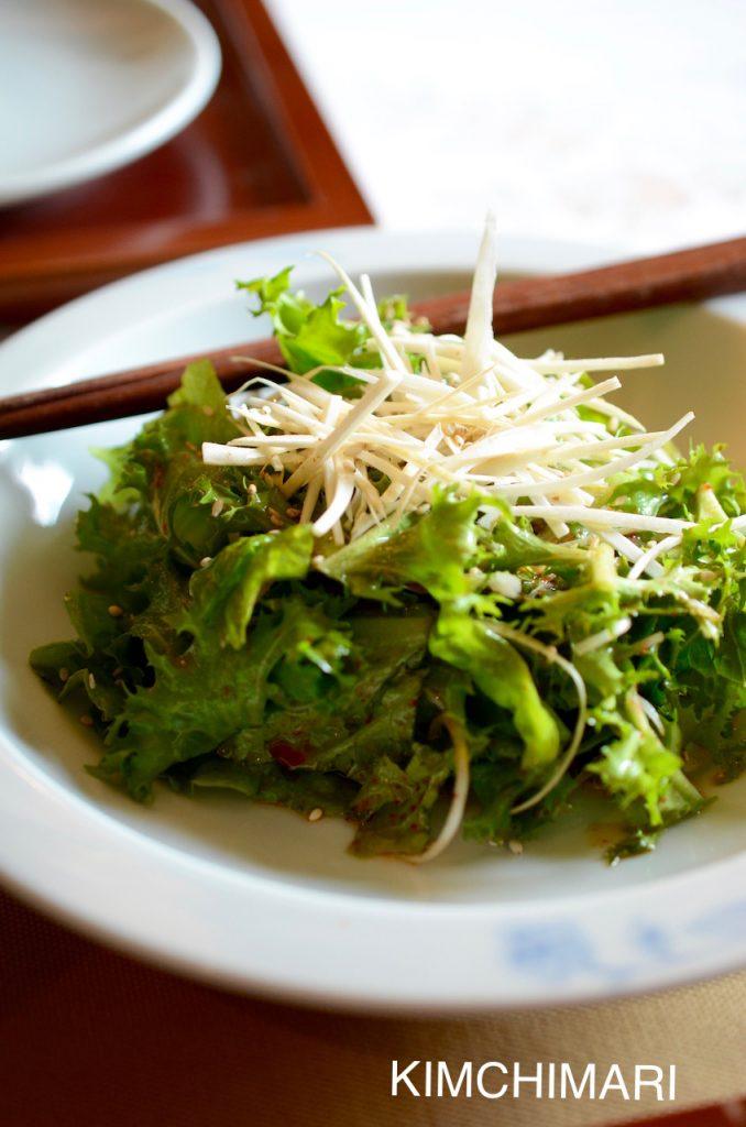 Fresh Ginseng Salad (수삼생채 Susam Saengche)
