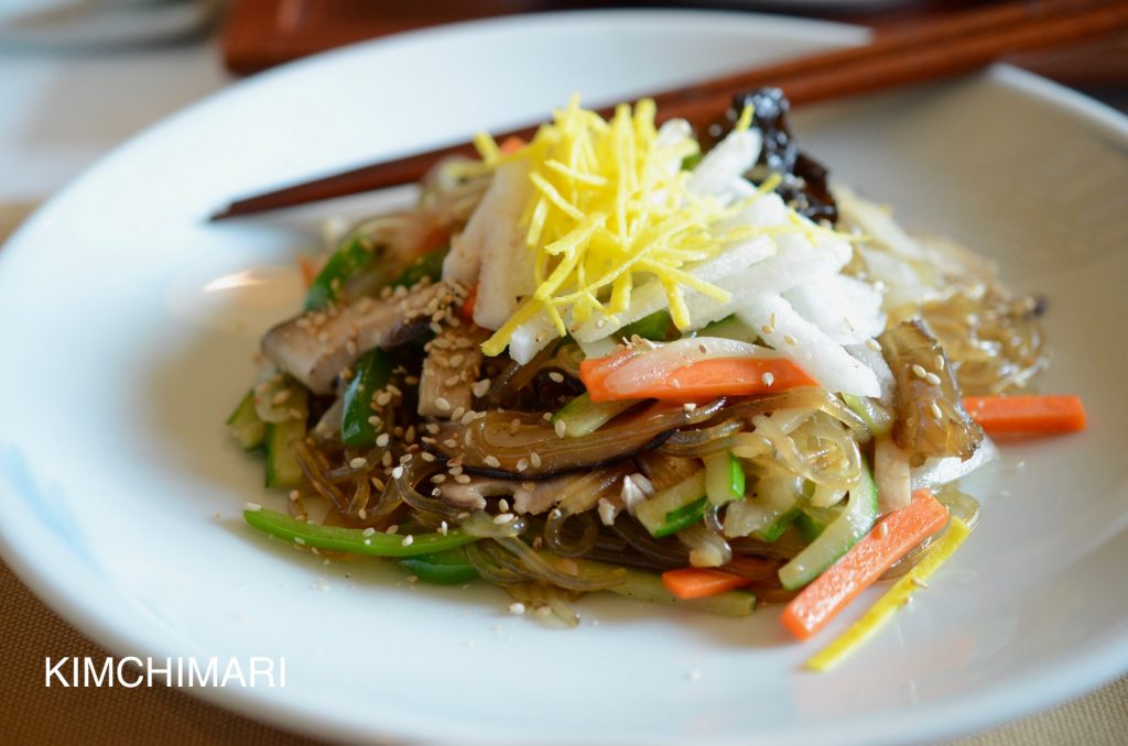 Korean Glass Noodles (Japchae 잡채) - Royal Cuisine style